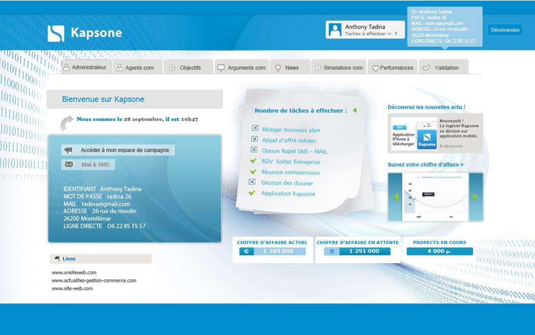 Création site web Ardèche - Kapsone