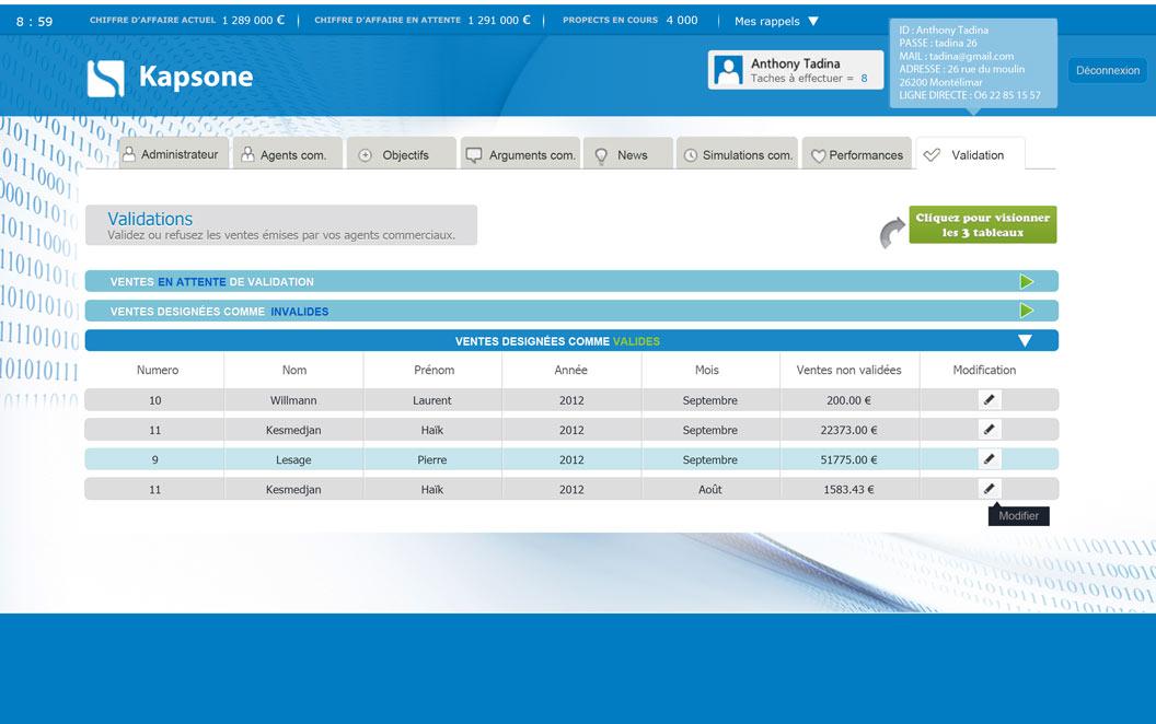 Création site web Drôme - Kapsone