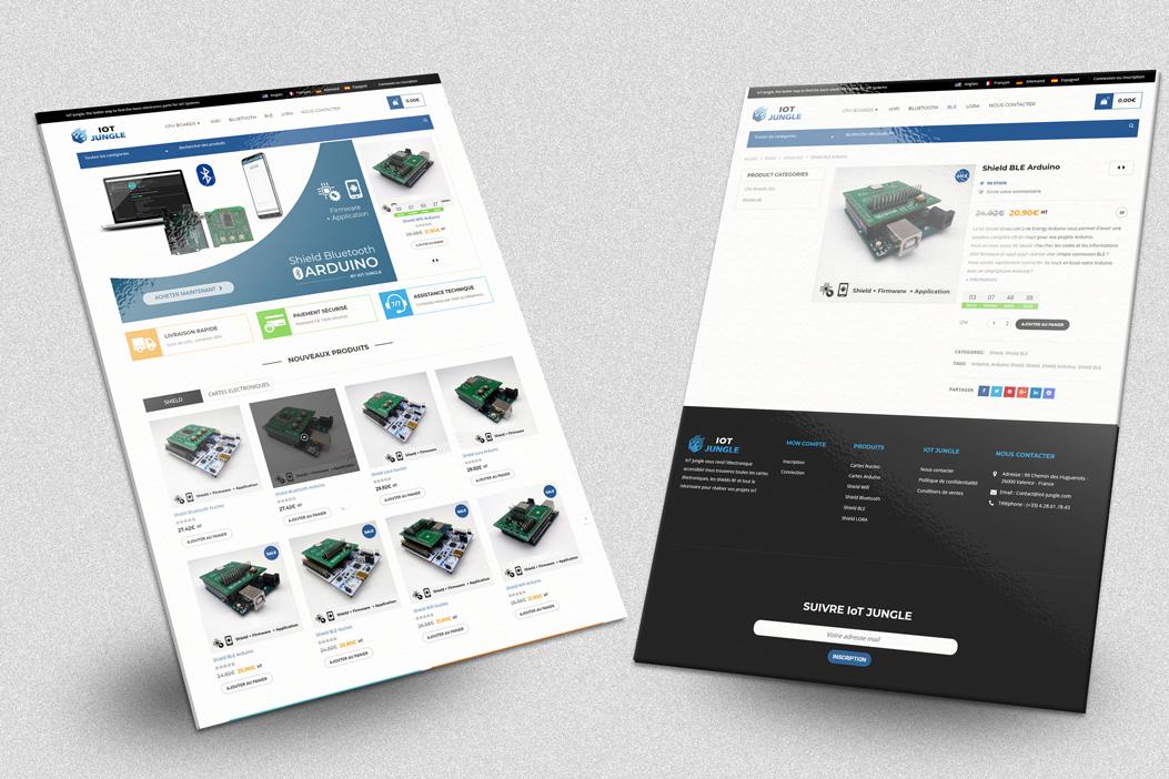 Réalisation site E-Commerce IoT Jungle