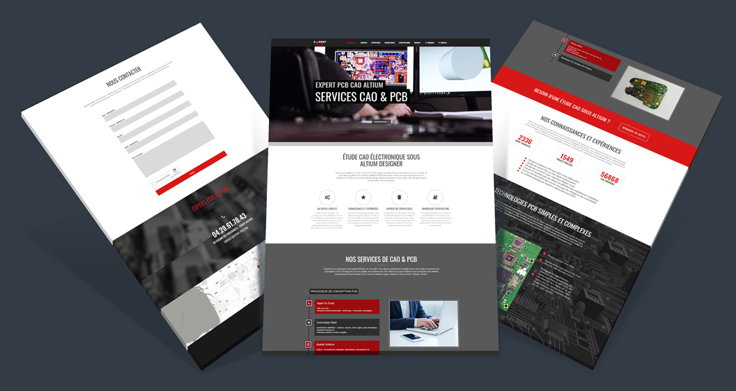 Réalisation Site internet vitrine - Expert PCB
