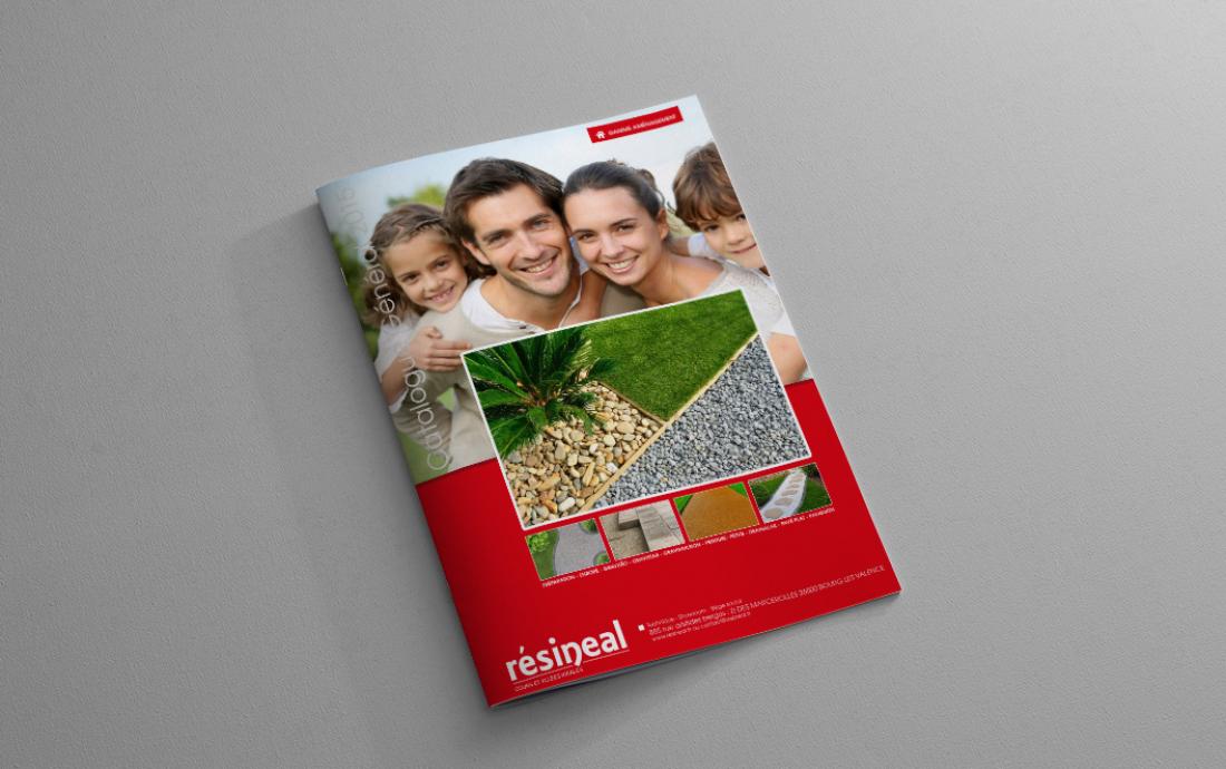 Création catalogue produits Résinéal