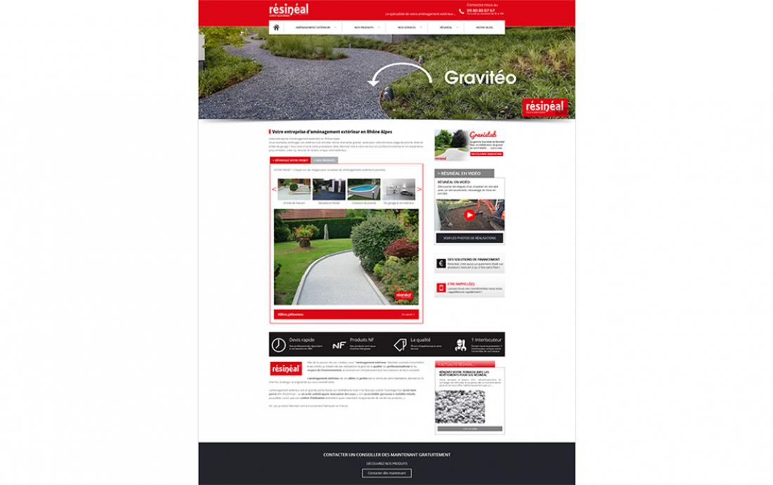 Création site internet et référencement : Résinéal